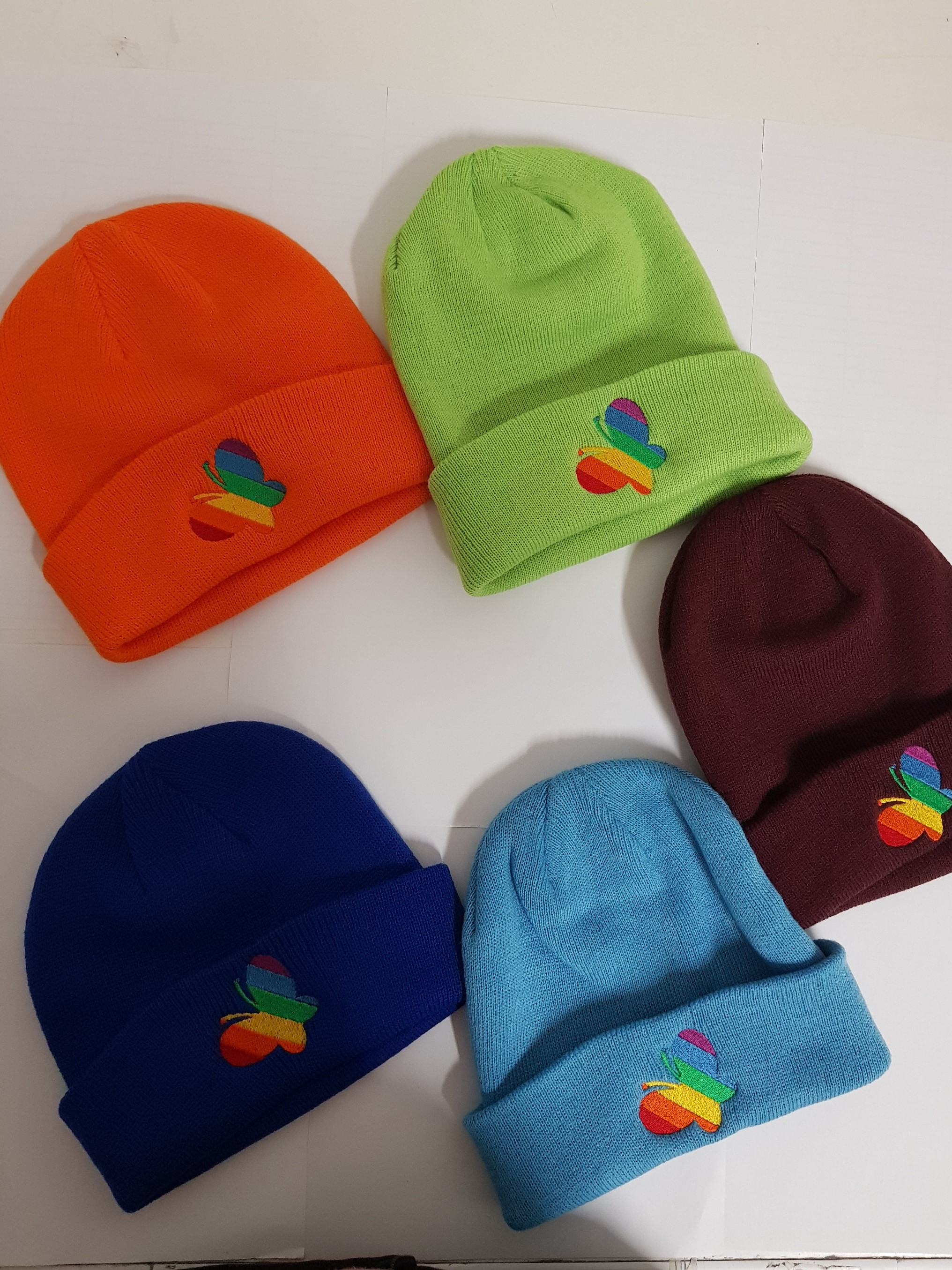 Wicklow Hospice Hats in the full colour range