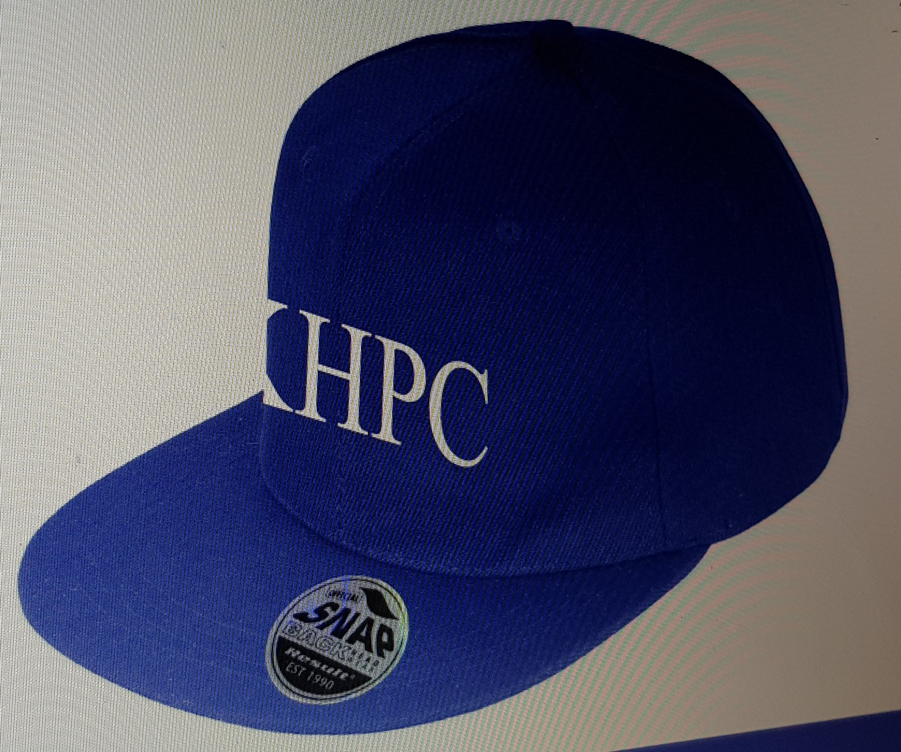 Navy Cap with KHPC in White