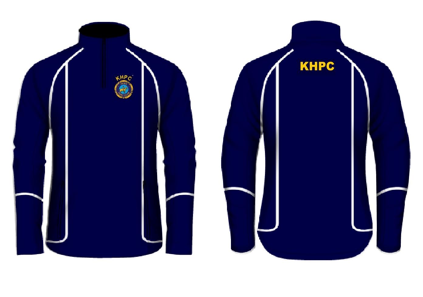 KHPC 1/2 zip Navy Top 2021