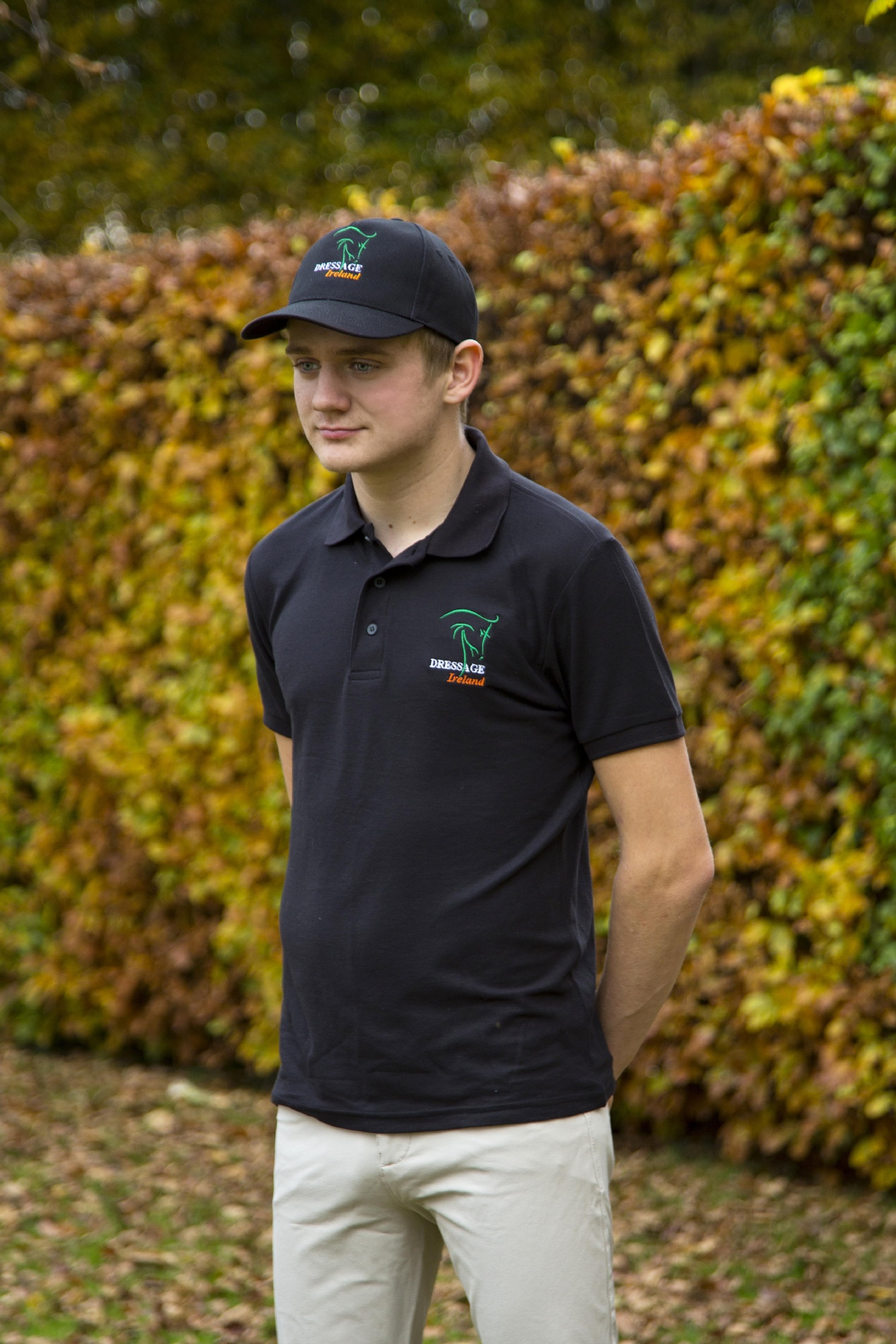 Men's Dressage Ireland Black Polo Shirt