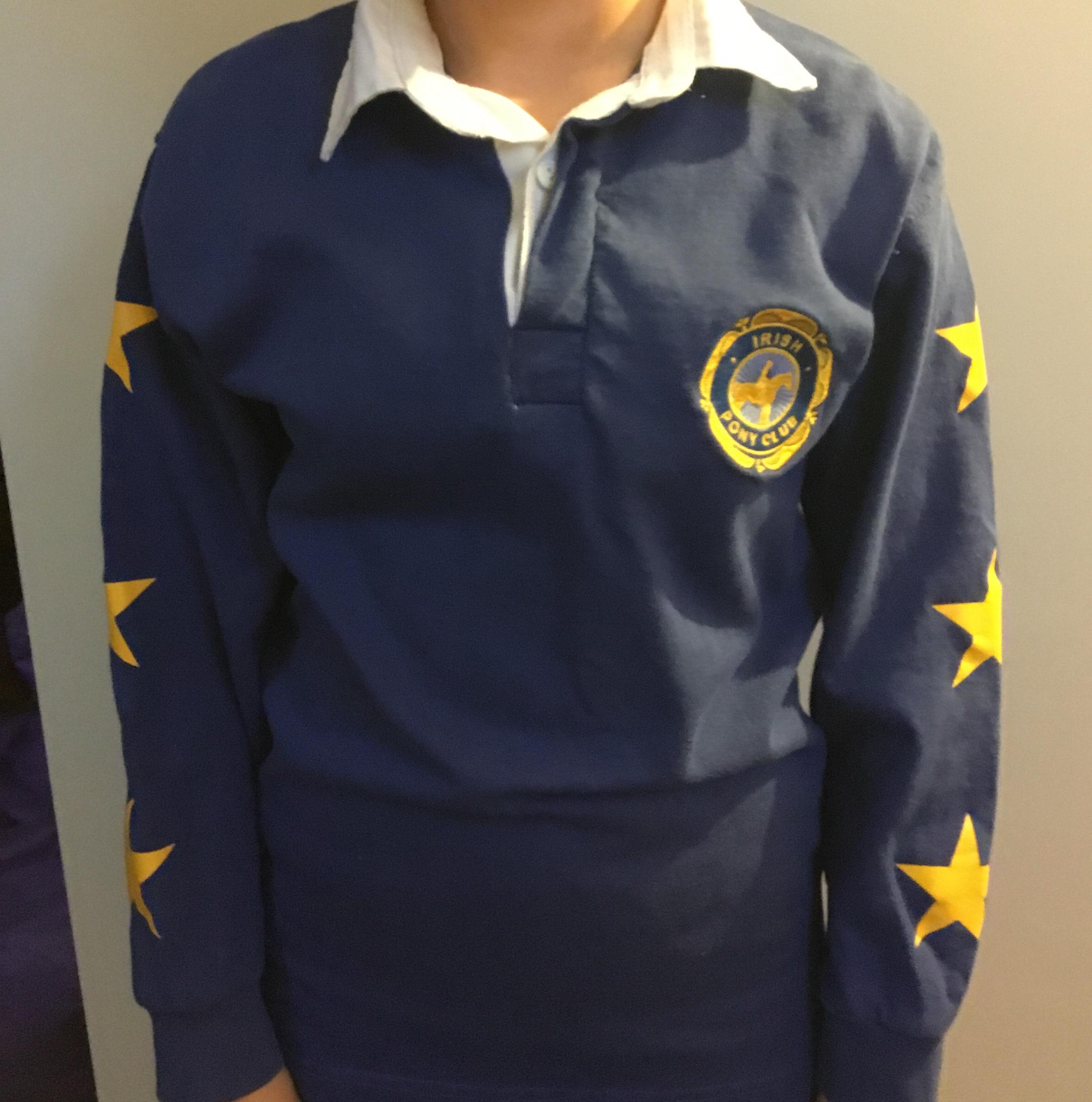 Blue XC Long Sleeve Polo Shirt